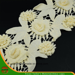 2017new Design Embroidery Lace on Organza (HWMJ-1701)