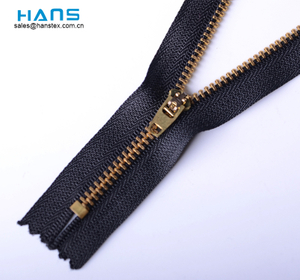 Hans Custom Made respetuosos con el medio ambiente Jeans Brass Zipper