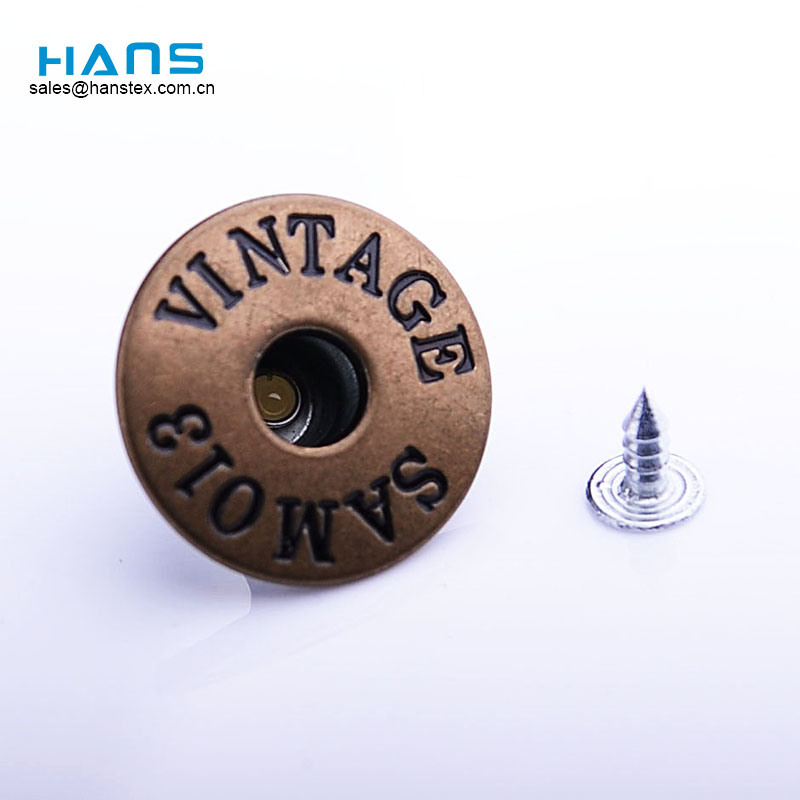 Hans Fabricantes en China Design Customized Button for Jeans
