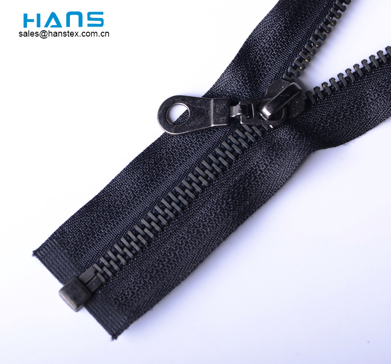 Hans ODM / OEM Design Eco Friendly Black Paint Metal Zipper